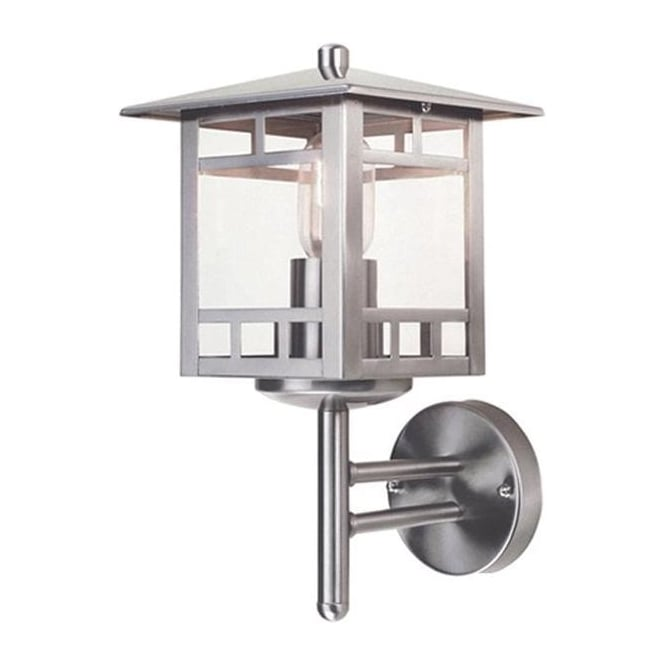 Elstead Lighting Scandinavian Kolne wall lantern - Stainless Steel