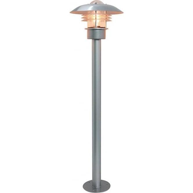 Elstead Lighting Scandinavian Malmo pillar lantern - Silver