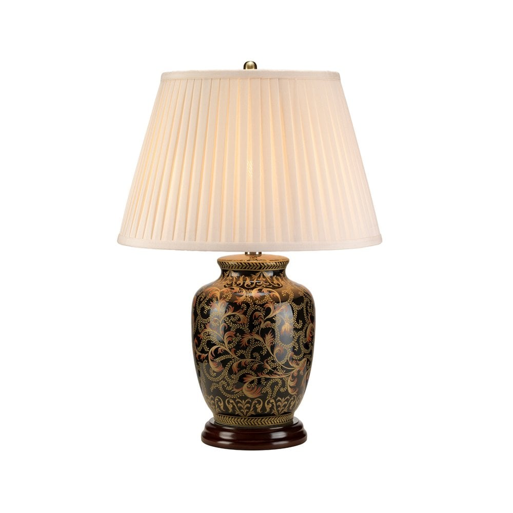 Elstead Lighting Elstead Lighting Small Gold And Black Morris Table