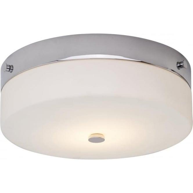 Elstead Lighting Tamar Flush Mount Bathroom LED Ceiling Light IP44 Polished Chrome