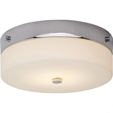 Tamar Flush Mount Bathroom LED Ceiling Light IP44 Polished Chrome