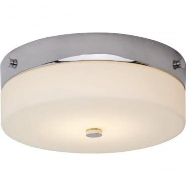 Tamar Flush Mount Bathroom LED Ceiling Light IP44 Polished Chrome