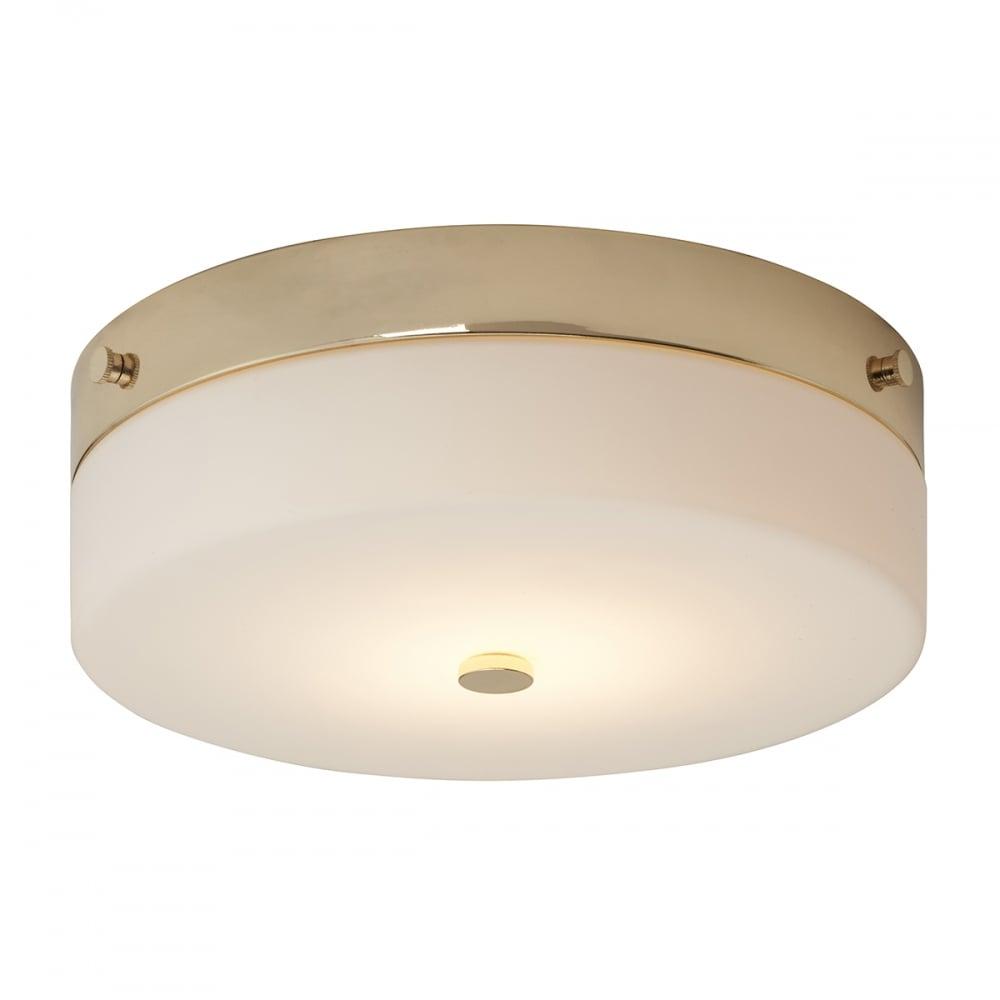 wholesale dealer 24117 a35fb Tamar Flush Mount Bathroom LED Ceiling Light IP44 Polished Gold - Large