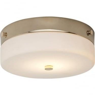 Tamar Flush Mount Bathroom LED Ceiling Light IP44 Polished Gold