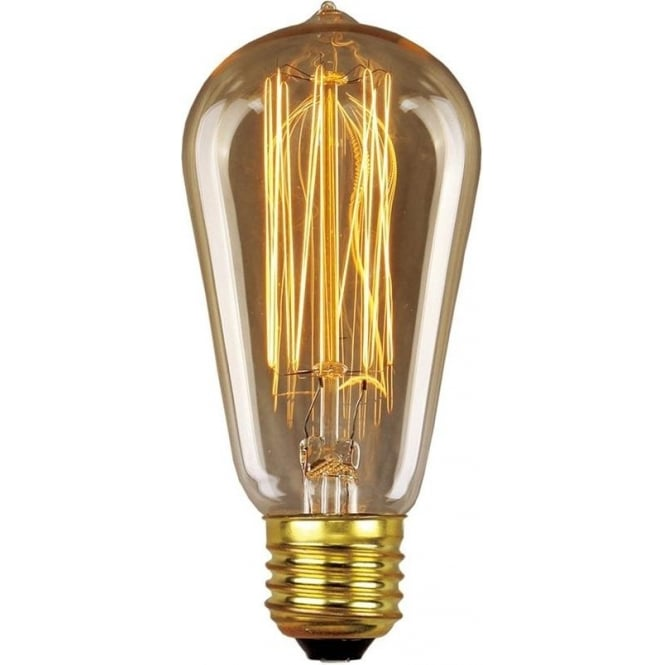 Elstead Lighting Vintage Industrial Lamp - Edison Filament Pear 30W E27