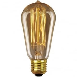 Vintage Industrial Lamp - Edison Filament Pear 60W E27