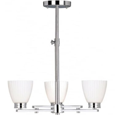 Wallingford 3 Light Ceiling Fitting Polished Chrome