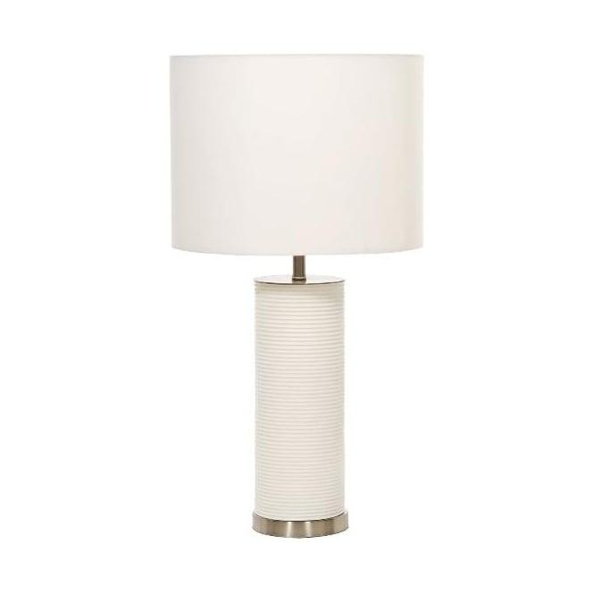 Elstead Lighting White Ripple Table Lamp - Base only