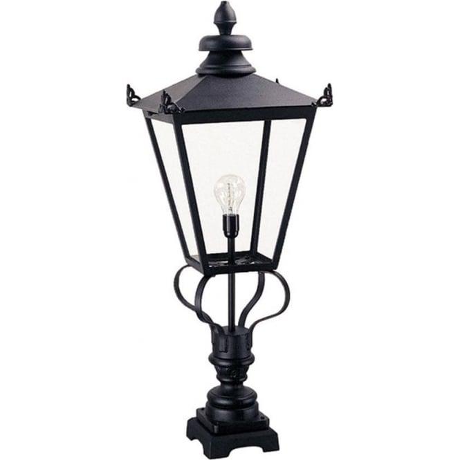 Elstead Lighting Wilmslow Pedestal Lantern - Black