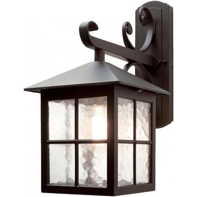 Elstead Lighting Winchester Down Wall Lantern - Black
