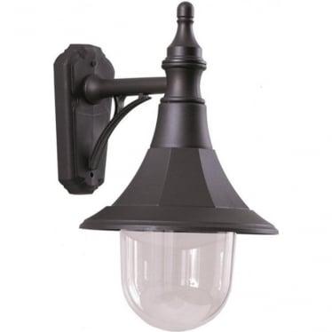 Elstead Shannon down wall lantern - Black