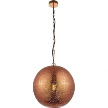 Abu single light pendant - Copper