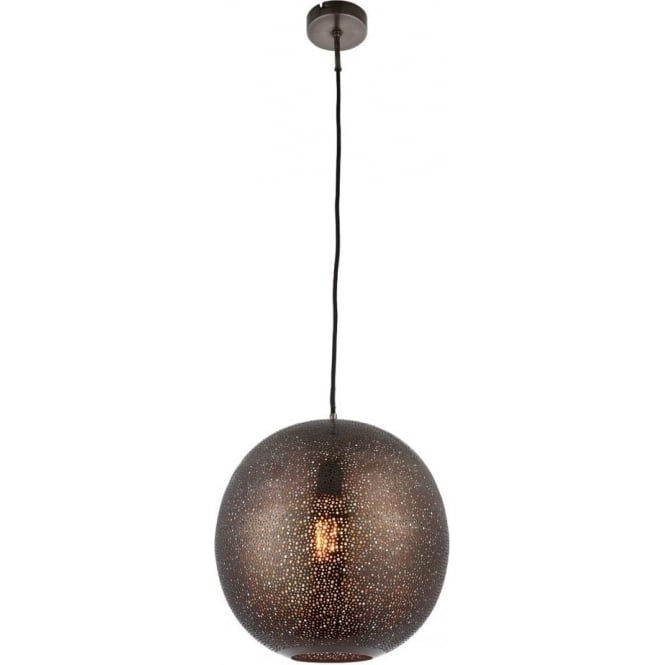 Endon Lighting Abu single light pendant - Pewter