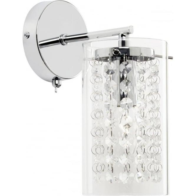 Endon Lighting Alda single wall fitting - Chrome plate & clear glass