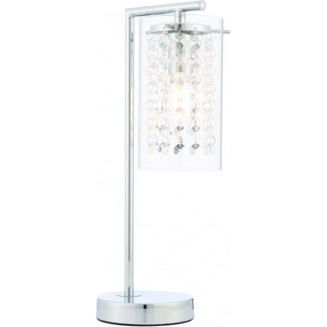 Endon Lighting Alda table lamp - Chrome plate & clear glass