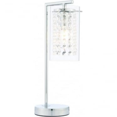 Alda table lamp - Chrome plate & clear glass