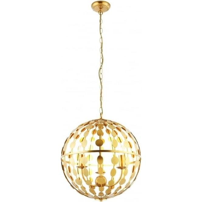 Endon Lighting Alvah 3 light pendant - Gold leaf