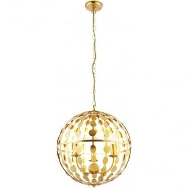 Alvah 3 light pendant - Gold leaf