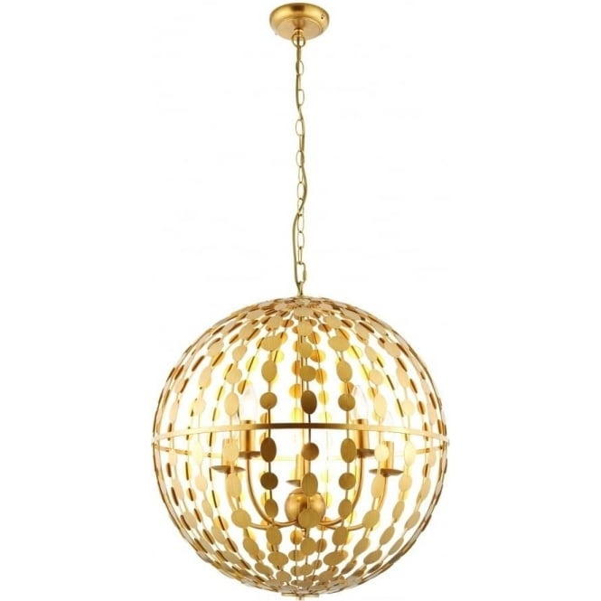 Endon Lighting Alvah 5 light pendant - Gold leaf