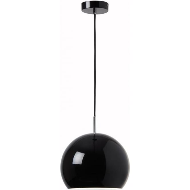 Endon Lighting Alzira 1 light Pendant - Gloss black