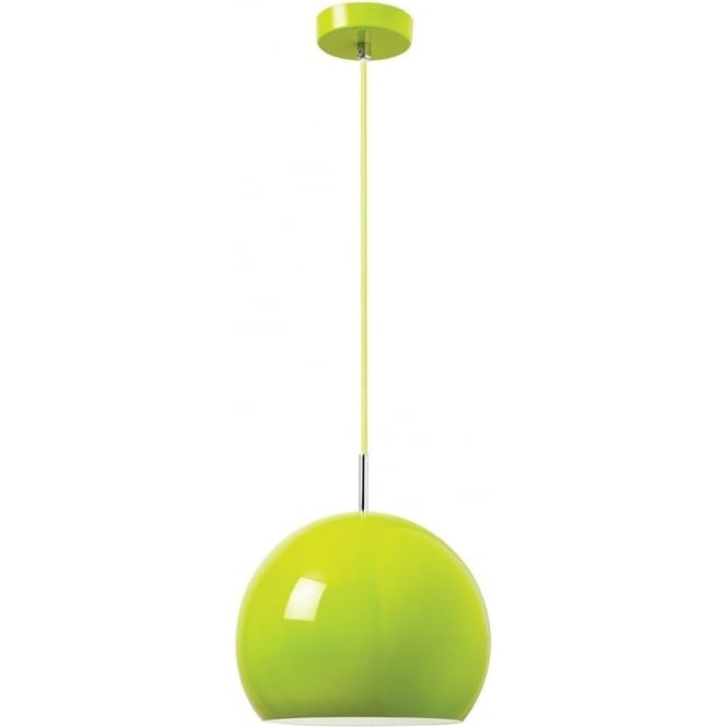 Endon Lighting Alzira 1 light pendant - Gloss lime green