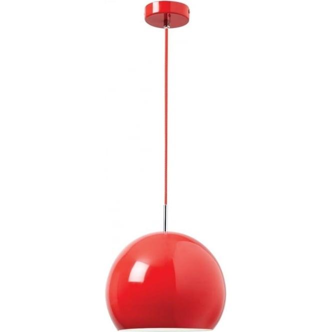Endon Lighting Alzira 1 light Pendant - Gloss red