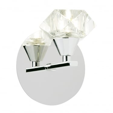 Arietta 1 light wall - Chrome plate & clear glass