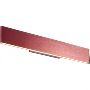 Bodhi LED wall fitting - Dark brushed copper plate & frosted acrylic - 485mm