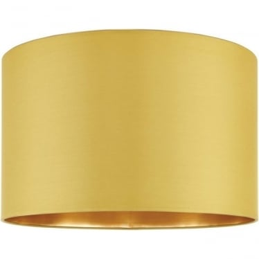 Boutique shade - Chartreuse Silk (yellow) & brushed gold pvc