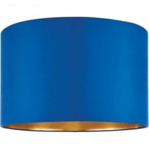 Boutique shade  - Midnight blue Silk & brushed gold pvc