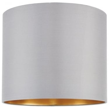 Boutique shade - Slate grey silk & brushed gold pvc