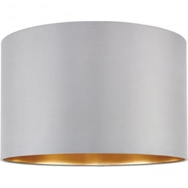 Boutique shade  - Slate Grey Silk & brushed gold pvc
