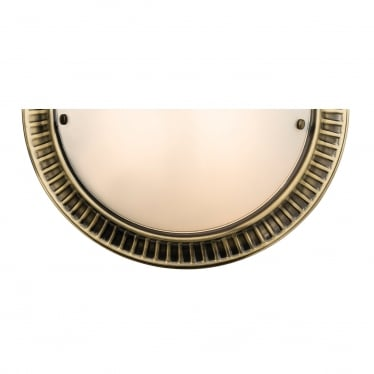 Brahms 1 light wall - Antique brass & frosted glass