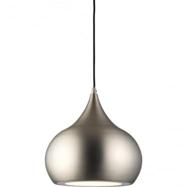 Brosnan single light Pendant - Matt nickel & clear glass