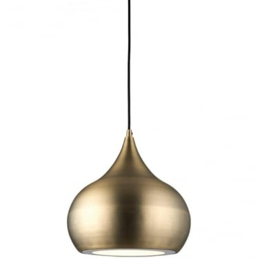 Brosnan single pendant - Matt antique brass