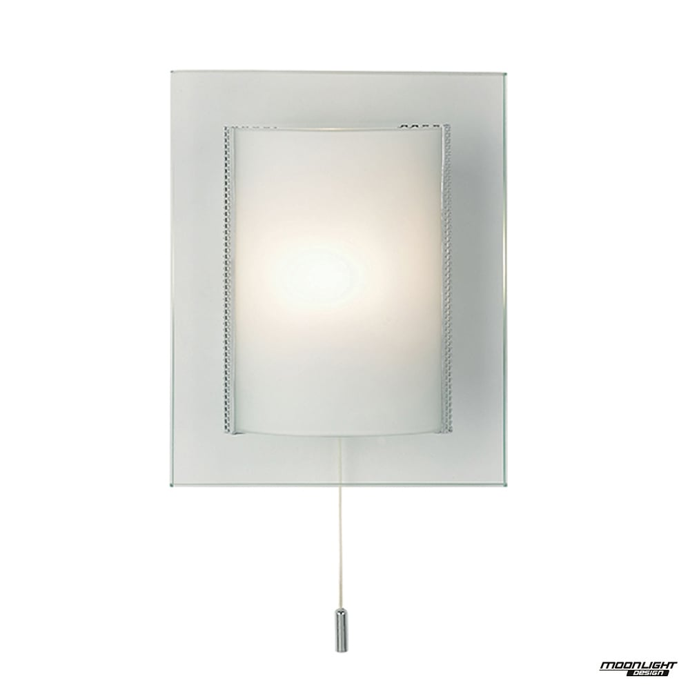 Endon Lighting Cabot 1 Light Wall Clear Amp Frosted Glass