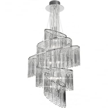 Camille 24 light Pendant - Chrome
