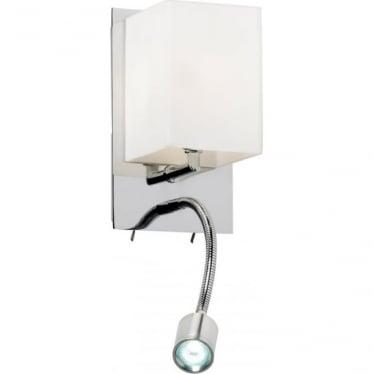 Cava single light wall fitting - Chrome