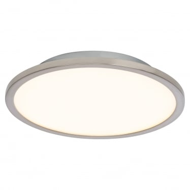 Ceres 250mm Flush fitting - Satin nickel & opal plastic