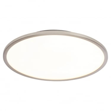 Ceres 350mm Flush fitting - Satin nickel & opal plastic