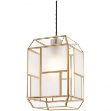 Chatsworth Non electric shade - Solid brass & frosted glass