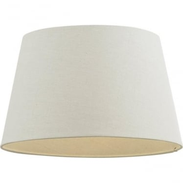 """Cici shade 10"""" - Ivory Faux Linen"""