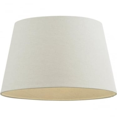 """Cici shade 12"""" - Ivory Faux Linen"""