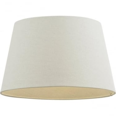 """Cici shade 18"""" - Ivory Faux Linen"""