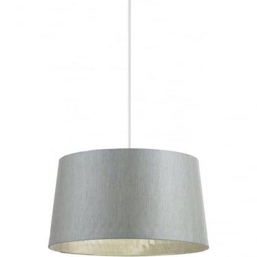 Cordelia shade - Silver grey faux silk