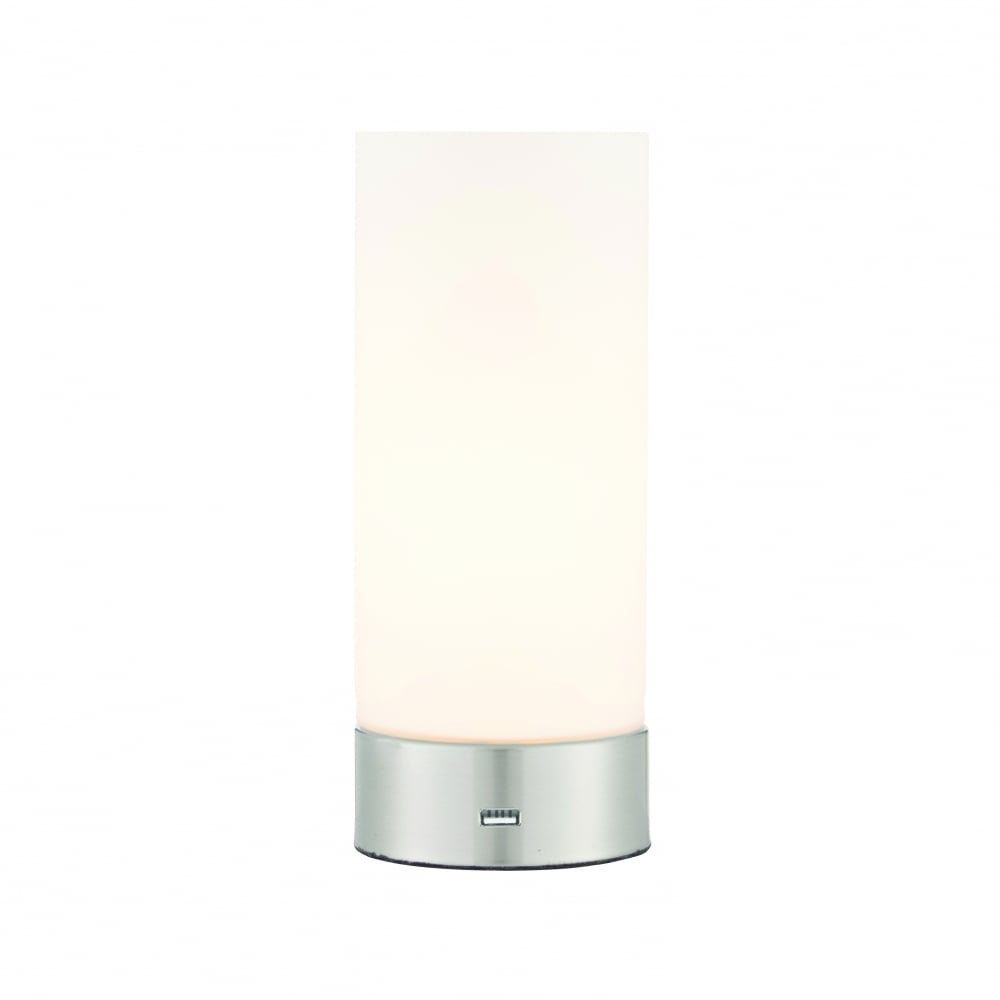 Fesselnde Nickel Matt Sammlung Von Dara Touch Table Lamp & Usb -