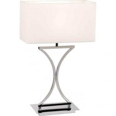 Epalle Table 60W SW - Chrome Plate & White Cotton Mix