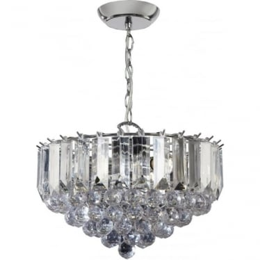 Fargo 3 Light Pendant - Chrome Plate & Clear Acrylic