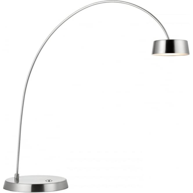 Endon Lighting Finch Touch Task Table Lamp - Brushed Nickel & Frosted Acrylic