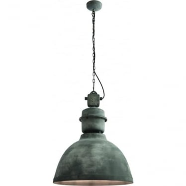 Ford single light pendant - Textured concrete effect